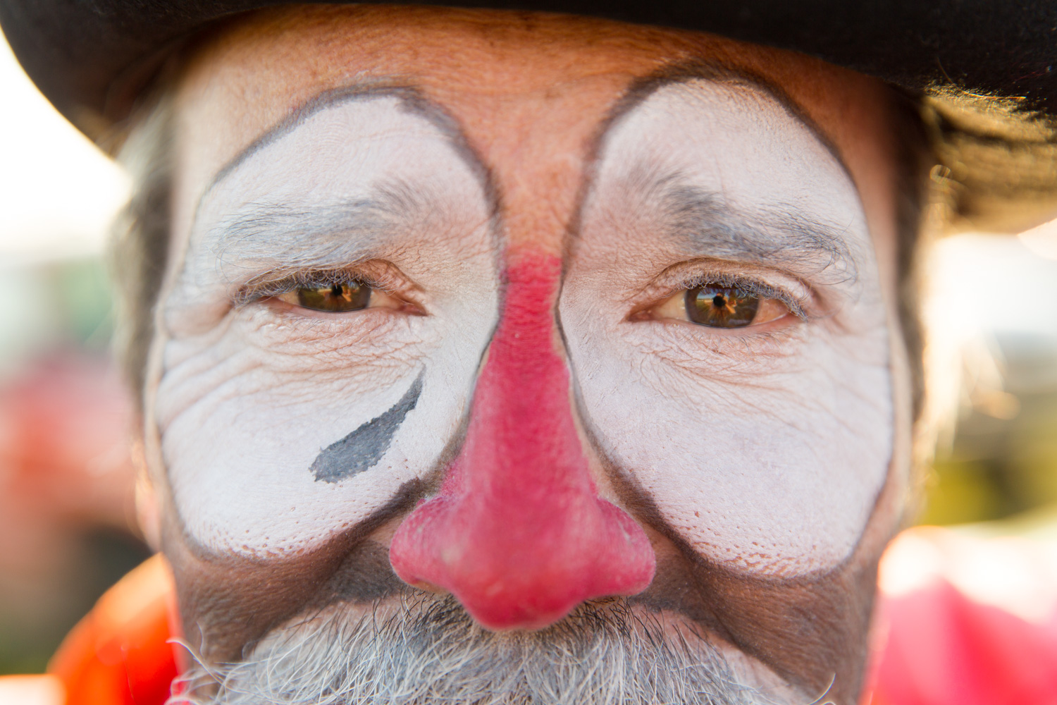 portrait of rodeo clown